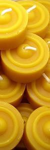 10 Teelichte aus Bienenwachs